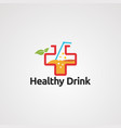 healthy drink logo icon element and template vector image vector image
