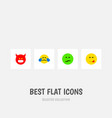 icon flat gesture set of angry sad tears and vector image vector image