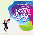 international youth day poster banner vector image vector image