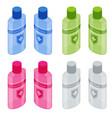 isometric alcohol gel hand sanitizer coronavirus vector image