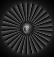 Jet engine turbine blades vector image