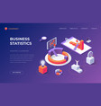landing page for business statistics vector image vector image