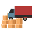 logistic company delivery cargo humanitarian vector image vector image