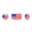 made in usa icon flag america for badge logo vector image vector image