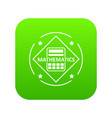 mathematics icon green vector image vector image
