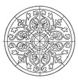medieval circular panel is a design found in laon vector image vector image