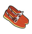 mens leather moccasins with laces and neat vector image vector image