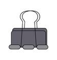 metal clip paper office equipment vector image