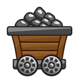 Mine cart with coal vector image vector image