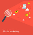 mobile marketing style flat design vector image