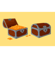 opened and closed chests with treasure vector image