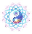 pastel symbol of yin yang vector image vector image