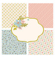 pattern party maker floral flower seamless set vector image