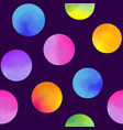 pattern with watercolor circles vector image