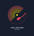 poster of the vinyl record music on vector image vector image