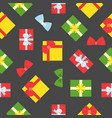 present gift box seamless pattern suitable for vector image vector image