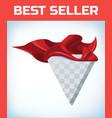red hero cape super cloak satin fabric vector image vector image