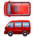 Red minivans vector image vector image