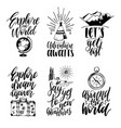 set hand lettering with phrases about vector image vector image