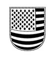 shield with flag united states of america black vector image vector image