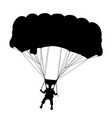 skydiver flying with parachute vector image
