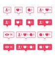 social media or network notification icon vector image
