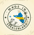 Stamp with map flag of Szeklerland vector image