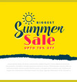 stylish summer sale yellow banner vector image vector image