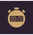 The 20 seconds minutes stopwatch icon Clock and vector image vector image