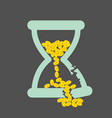 time is money concept with golden coins in a vector image vector image