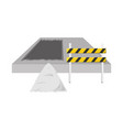 trafic barrier and construction sand vect vector image vector image