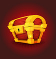 treasure chest icon for game ui vector image vector image