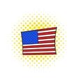 USA flag icon comics style vector image vector image