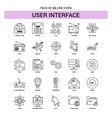 user interface line icon set - 25 dashed outline vector image