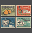 viva cuba travel retro posters columbus museum vector image vector image