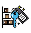 warehouse colorful icon sharing economy concept vector image