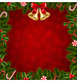 xmas border fir tree branches vector image vector image