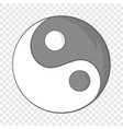 yin yang sign icon in cartoon style vector image vector image