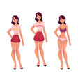 young slim woman girl in underwear and pajamas vector image