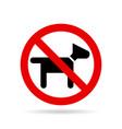 no dogs icon vector image