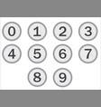 typewriter keys numbers vector image