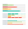 infographic elements progress bar vector image