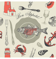 Seafood Fish Pattern vector image