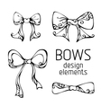 Set of hand-drawn bows vector image