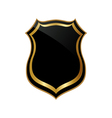 Abstract golden badge vector image