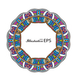 Acid color ethnic mexican tribal mandala round vector image vector image