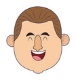 adult man smiling face vector image vector image