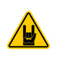 attention rock music warning rock hand symbol vector image vector image