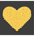 big golden heart made of hearts with shadow vector image