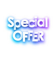 blue spectrum special offer paper sign on white vector image